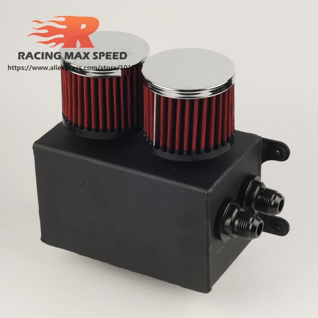 Aluminum Universal Racing AN10 Oil Catch Tank Can Turbo Reservoir Catch Oil Catch Can Breather Tank OCT1120