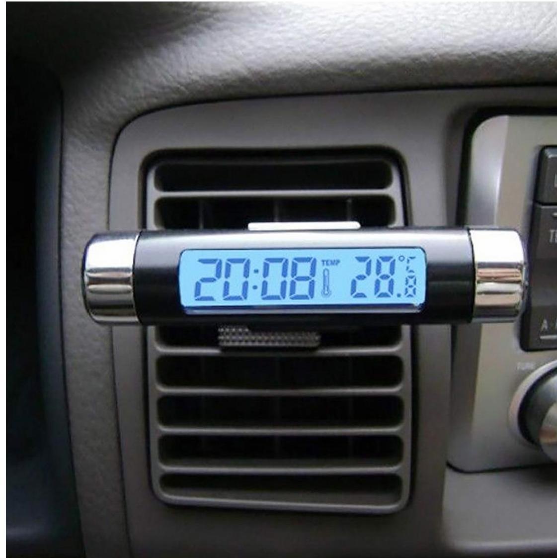 Digital Car Auto Clock Car Thermometer Auto Accessory Car Accessory Clock And Thermometer For Car