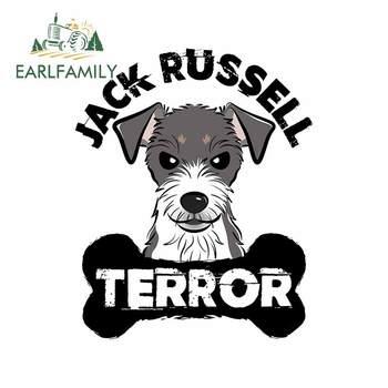 EARLFAMILY 13cm dla Jack Russell Terrier pies osobowość naklejki samochodowe moda naklejka DIY okluzja Scratch kalkomanie dekoracje