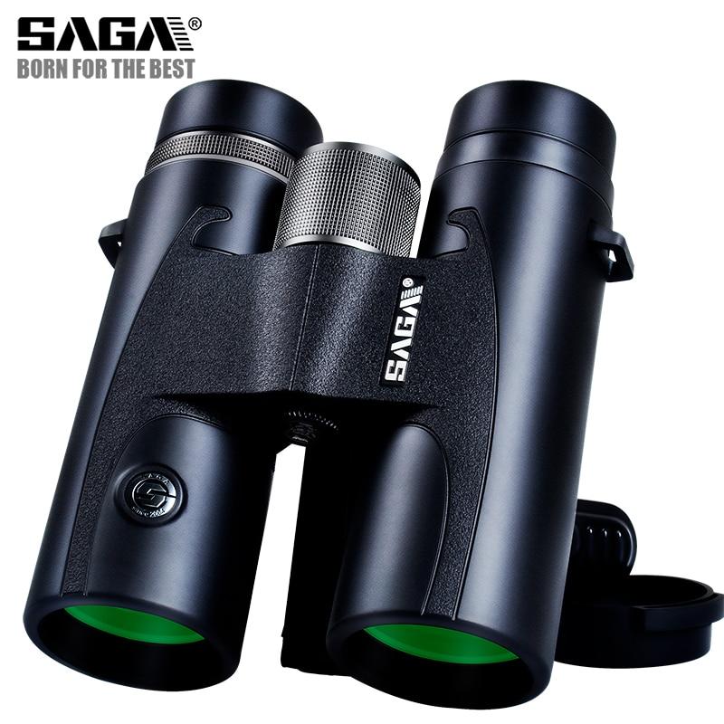 saga colorido 8x42 10x42 binoculos binocular telescopio para adultos presente compacto concerto hd acampamento ao ar
