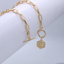 Srcoi 42 см шестиугольная медаль 26 букв имя колье ожерелье