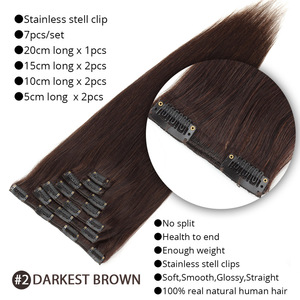 Image 4 - MRSHAIR Clip In Human Hair Extensions Machine Made Remy Straight Hair #60 Blonde Brown Natural Color Hair 7pcs Brazilian Hair