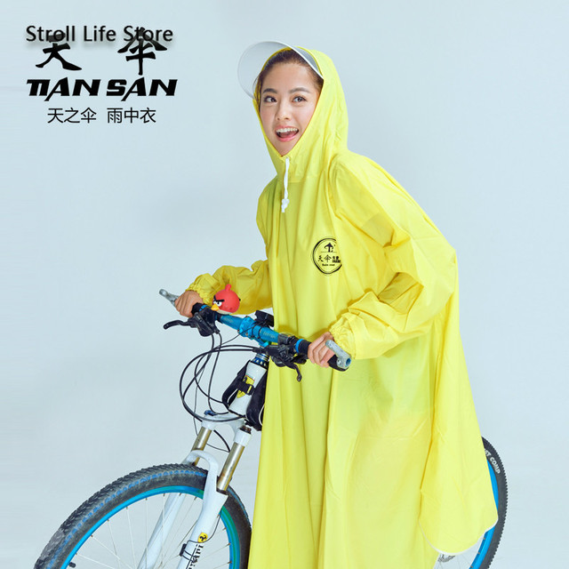 Mountain Biking Poncho Transparent Raincoat Women Plastic Suit Rain Coat Adults Yellow Waterproof Suit Bicycle Rainwear Gift 1
