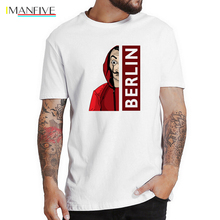 La Casa De Papel Movie T Shirt Money Heist Tees TV Tshirts Men Short Sleeve House of Paper Funny T-Shirt Camisetas Hombre