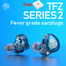 TFZ Series 2 S2 w uchu słuchawka hi fi przewodowe słuchawki douszne DJ dynamiczny sterownik przezroczysty basowy zestaw słuchawkowy z kablem 0.78 2PIN