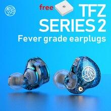 Tfz Serie 2 S2 In Ear Oortelefoon Hifi Bedrade Oordopjes Dj Dynamische Driver Transparante Bass Headset Met 0.78 2PIN Kabel