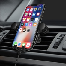 цена на SUNYDEAL Car Phone Holder For Phone In Car Air Vent Mount Stand For Iphone Xiaomi Samsung Universal Auto MobilePhone Mount Stand
