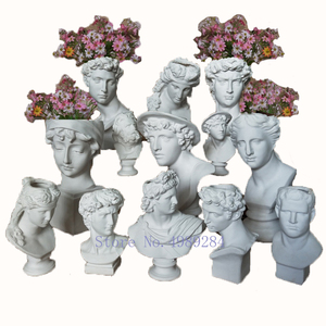Image 5 - Creative Resin Imitation plaster vase David Sculpture head vase Flower arrangement accessories Apollo Venus Home Decorations