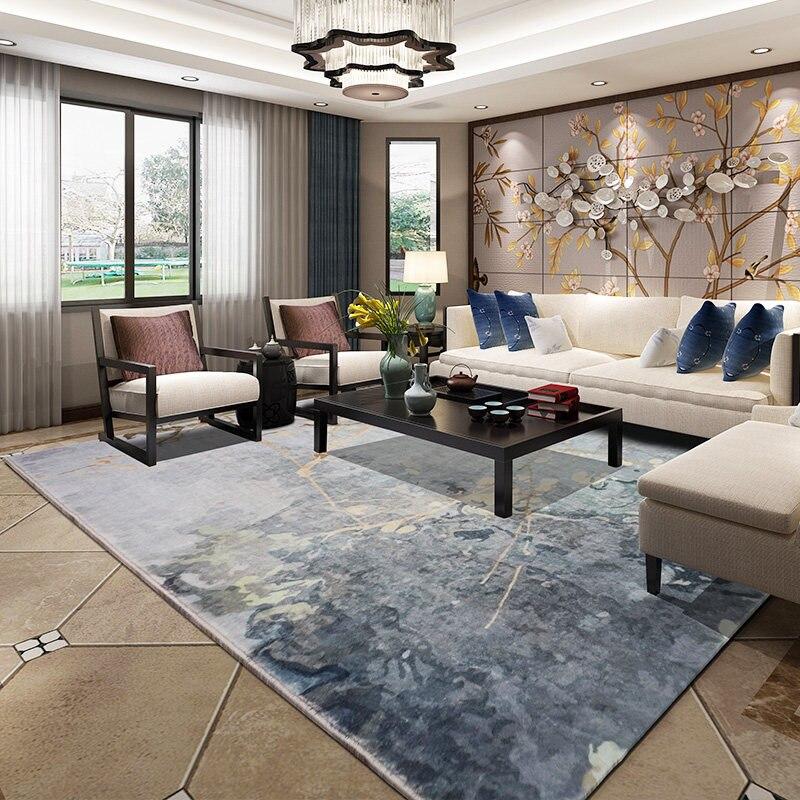 Tapis de Style chinois pour salon décor à la maison chambre tapis canapé Table basse tapis de sol moderne tapis doux et tapis enfants tapis