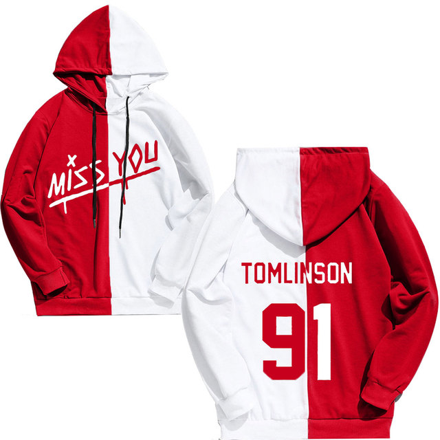 MISS YOU TOMLINSON 91 THEMED HOODIE