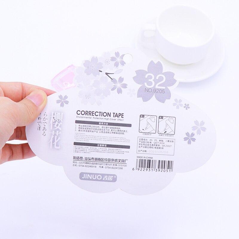4Pcs Set 5mm 3m Kawaii Cherry Correction Tape Cute Cartoon Tapes School Writing Corrector Tool Office Supplies Stationery