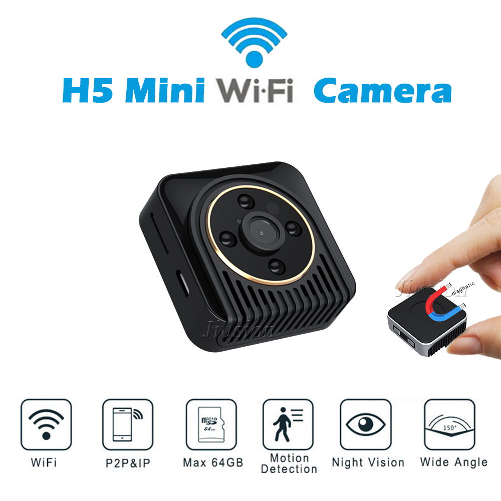 H5 <font><b>Mini</b></font> Wifi <font><b>Camera</b></font> Magnetic Body Cam Night Vision Wide Angle Motion Sensor HD Video Recorder P2P Micro Cam Support Hidden TF Ca image