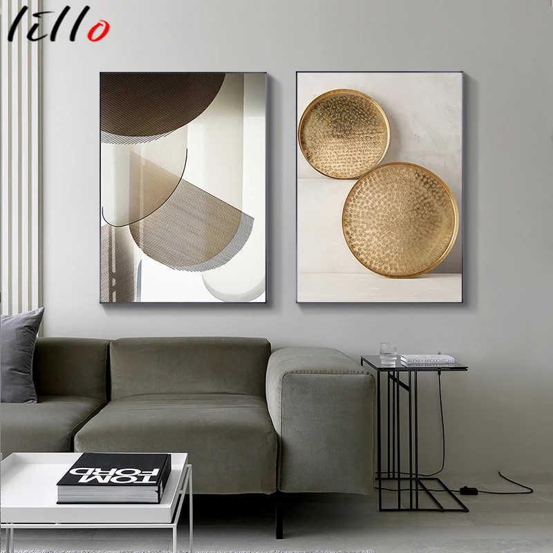 Современная Геометрическая живопись на холсте, постеры и принты, абстрактная Минималистичная Настенная картина для гостиной, спальни, домашний декор