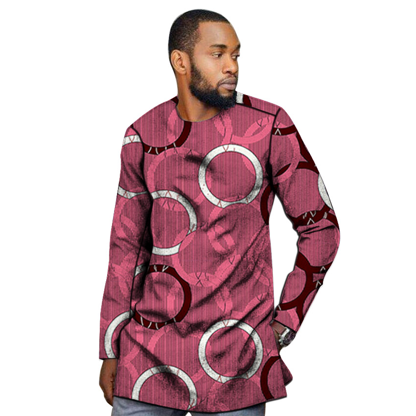 Image 5 - African outfits men's shirt custom made Ankara o neck dashiki print groom tops male formal Africa clothing-in Tuxedo Shirts from Men's Clothing
