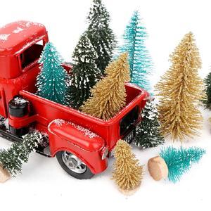 Image 3 - OurWarm عيد الميلاد شمعدان معدني أحمر شاحنة خمر شاحنة عيد الميلاد ديكور للطاولات يدويا طفل هدية عيد ميلاد الجدول الأعلى ديكور للمنزل