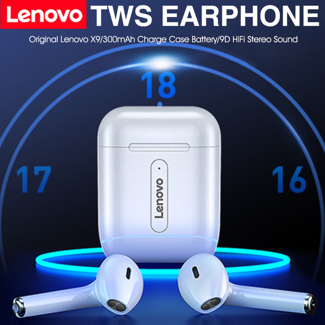 Auricolari Wireless Lenovo Bluetooth 5.0 TWS con microfono PK auricolare Wireless Air 2 Smart Sensor Rename cuffie sportive GPS