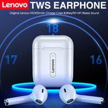 Lenovo fones de ouvido sem fio bluetooth 5.0 tws com microfone pk ar 2 sensor inteligente renomear gps esporte fone de ouvido