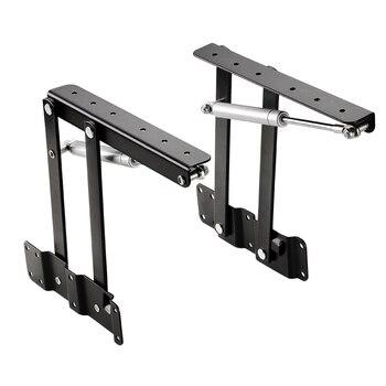 1 Paar Nieuwe Salontafel Lifting Frame Vouwen Lift Up Top Mechanisme Hydraulische Buffer Scharnier Hardware Set Beer Meer 50 kg