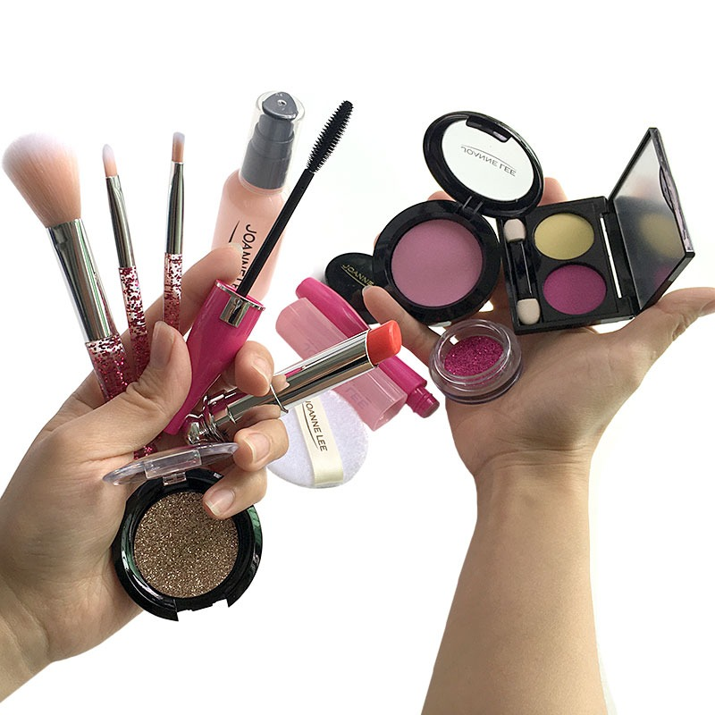 Children Educational Simulation Cosmetics Set Simulation Makeup Toys Girl Makeup Accessories Handbag Kid Birthday&Holiday Gifts