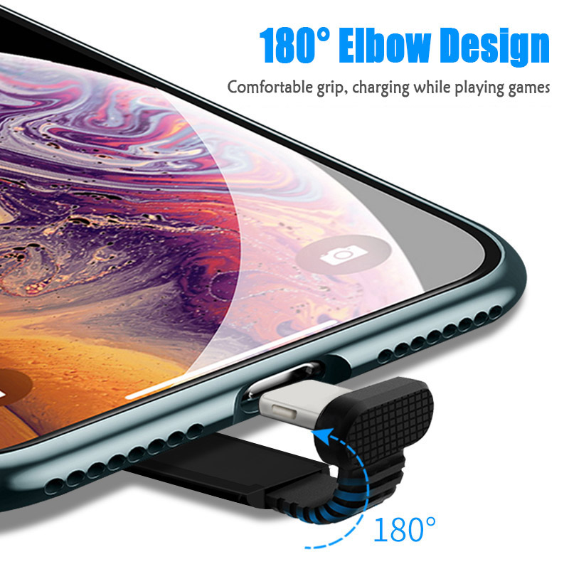 Mobile Game Eat Chicken Data Cable Quick Fast Charge Applicable To Android Type c Elbow Cell Phone Charging Cable Cord Wire in Mobile Phone Cables from Cellphones Telecommunications