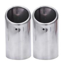 2x Collettori di Scarico Punte di Scarico Del Silenziatore Del Tubo in Acciaio Inox per Au di A4 B8 A4L Q5