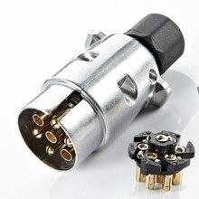 7 Pin Аксессуары фаркоп протектор 12 В автомобиль прочный прицеп розетка алюминиевый сплав разъем Вилки Европейский стандарт штекер для автомобиля