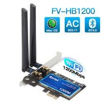 Masaüstü çift bant 802.11ac BCM94360 kablosuz-ac WiFi Bluetooth 4.0 PCI-E adaptörü için Mac/Hackintosh için/Windows