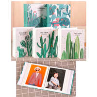 6 Inch Photo Album Cactus green plant Picture Storage Frame 100 Sheets Insert Page Album Children Lovers Wedding Memory DIYBook