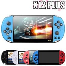 Novo x12 mais retro jogo handheld console embutido 2000 + jogos clássicos portátil mini player de vídeo 7.1 polegada ips tela 8g + 32g