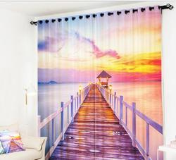 Zasłony do kuchni luksusowe biuro sypialnia 3D zasłona salon udekoruj orientalne zasłony przeciwsłoneczne poszewka