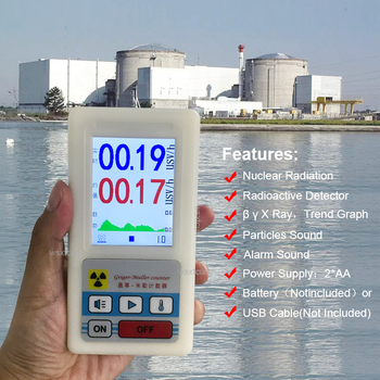 Geiger Counter Nuclear Radiation Detector LCD Display Screen Personal Dosimeter X-Ray Beta Gamma Detector Radioactive Tester gamma ray skeletons