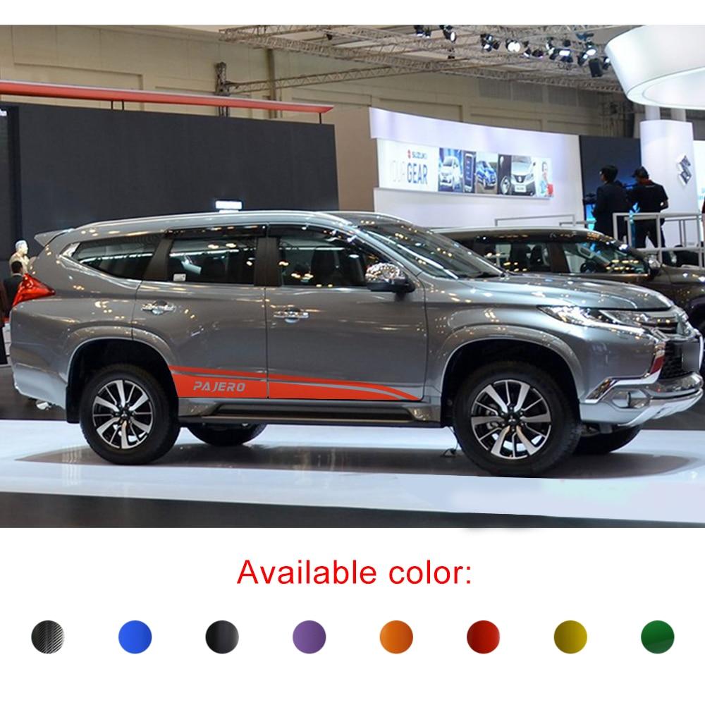 Mobil Stiker Pintu Samping Garis Gaya Grafis Vinyl Mobil Keren Stiker Cocok Untuk Mitsubishi Pajero Sport Suv 2015 2016 2017 2018 2019 Mobil Stiker Aliexpress