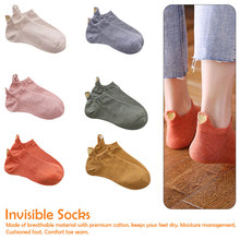 1 Pair Short Ankle Socks Casual Cotton Flexible Fashion Women Irregular Heart Sport Cute Gift Sock