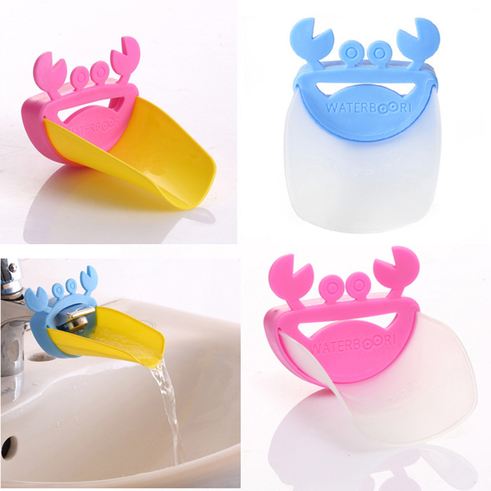 Crab Shape Faucet Extender Baby Auxiliary Child Hand Washing Machine Safety Guide Sink Bathroom Accessories Home Living Supplies