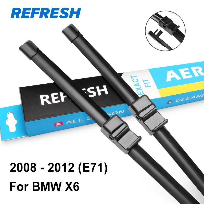 REFRESH Щетки стеклоочистителя для BMW X6 E71 F16 Боковая опора / кнопка / крюк для оружия 2008 2009 2010 2011 2012 2013 - Цвет: 2008 - 2012 ( E71 )