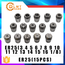 ER25 15PCs מהדק סט 3mm כדי 16mm טווח עבור כרסום CNC חריטת מכונת כלי מנוע ציר