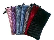 1 шт. Пылезащитный Чехол для очков, водонепроницаемая клетчатая ткань, солнечные очки с сеткой, сумка для очков, случайный цвет 9*18 см