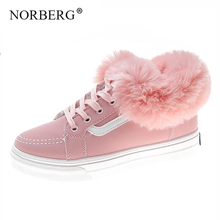 New women casual shoes fashion fur womens winter sports boots wild snow woman