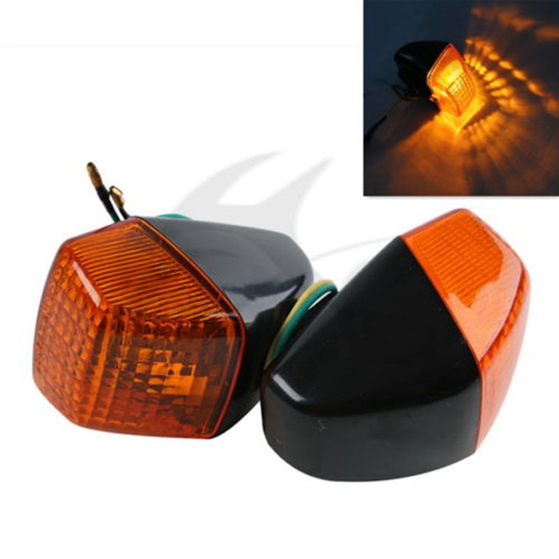 Motorcycle Clear/Orange Turn Signal Indicator Blinker Amber Light For HONDA VFR400 NC30 CBR250 MC22