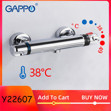 GAPPO Thermostatic Bath Shower Control Valve Bottom Faucet Wall Mounted Hot And Cold Brass Bathroom Mixer Bathtub Tap(China)