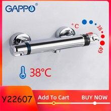 GAPPO Термостатический смеситель для ванны и душа, смеситель для ванной комнаты, настенный смеситель для горячей и холодной воды из латуни