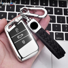 Neue Weiche TPU Auto Remote Key Fall Abdeckung Halter Shell Fob Für Volkswagen VW Magotan Passat B8 Golf Für Skoda superb A7 Zubehör