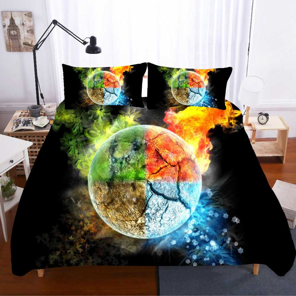 Star Bed Linen Cotton Twin Size Bedding Set Luxury Duvet Cover Bed Comforters 2 People Single Queen Posciel 3d Kids Gift Couple in Bedding Sets from Home Garden