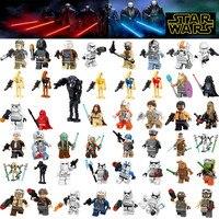 Star Wars Figures legoing starwars Leia Han Solo Yoda Luke Sith Lord Darth Vader Maul Revan Dooku Building Blocks bricks toys