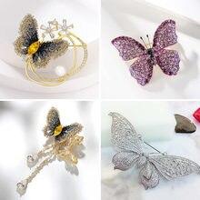Viennois Бабочка Брошь с золотой Заколкой цвет красивые модные украшения для женщин