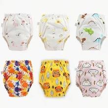 25pc/Lot  Waterproof Cloth Diapers Reusable Toolder Nappies Diaper Baby Underwear Baby Cotton Training Pants Panties