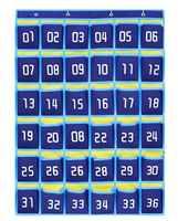 Numbered Moblile Phone Organiser Cell Phones Holder Wall Door Hanging Organizer School Classroom Sundries Closet Pocket Chart