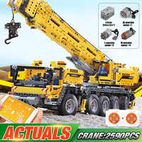 Juguetes técnicos para coches DHL 20004 compatibles con lepining 42009 grúa móvil MK II juguetes navideños para niños, bloques de construcción