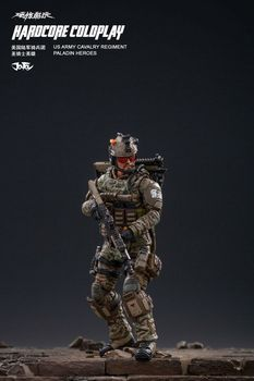 1/18 Scale 4 Inches JTHC004 Man Soldier US Army Cavalry Paladin Hero Action Figure Model Toys for Fans Holiday Gifts