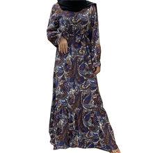 Новинка мусульманское модное платье абайя Женская Повседневная
